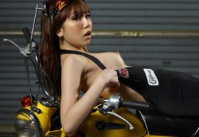 reina yuuki, reina, motorcycle, minimoto, nipples, sexy, hi-q, asian