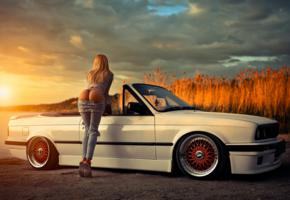 ass, pants, jeans, bikini, panties, bmw, widescreen cut, sunset