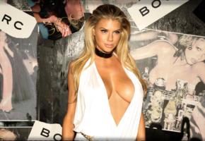 charlotte mckinney, big tits, 4k, dress, cleavage