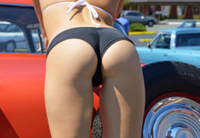 amatuer, ass, panty, butt, panties, car wash