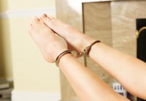 sophia smith, daisy, handcuffs, tip toes, fetish, legs, feet