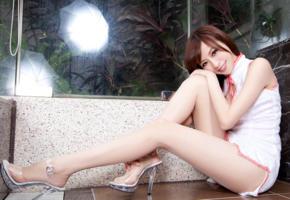 asian, legs, smile, sitting, beautiful, sexy legs