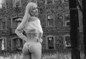model, unknow, op art, ass, panties, legs