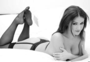 lucy pindeeer, model, op art, ass, breasts
