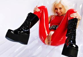 dulsineya, katja, russian, adult model, pornactress, sexy babe, fetish model, 66latex, sexy, tight clothes, smile, legs, spread wide, latex, catsuit, open crotch, pvc, plateau boots, cunt, fetish babe, knee boots, shiny clothes, babes in boots, rubber, fetish, pussy