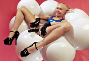 dulsineya, katja, lisa, russian, adult model, pornactress, pigtails, fetish model, 66latex, inflatable, plateau heels, latex, open crotch, gloves, legs, high heels, lovetoy, insertion, fetish babe, smile, rubber, fetish, dildo, spread wide, double dildo, pussy