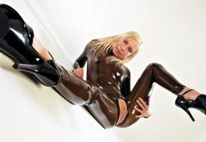 dulsineya, katja, lisa, slim, russian, adult model, pornactress, fetish model, 66latex, latex, catsuit, fullsuit, open crotch, fetish babe, shaved, cunt, plateau heels, tight clothes, hot, rubber, fetish, high heels, shaved pussy, pussy