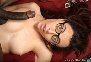 jessica ryan, glasses, creampie, black, cock, big dick, cum on face, cumshot, sperm, dick