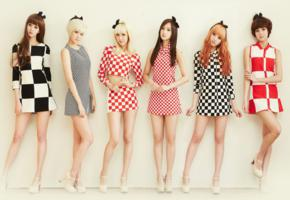 asian, legs, heels, checkered, dress, hello venus, do you want some tea, 6 babes