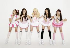 asian, legs, socks, skirt, knee socks, girls day, twinkle twinkle, 5 babes