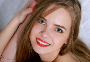 silarry carolina, incredeble cute, metart, red lips, smile
