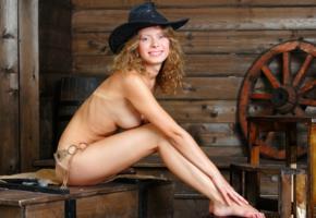 anne p, oliwia, oliwia a, naked, cowgirl, big tits, puffy nipples, hat, smile, hi-q