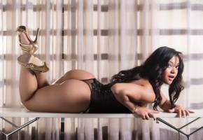 thaynara ferreira, ass, brunette, butt, lingerie, sexy ass, exotic, latina, young, sexy babe, nice rack, long hair, legs, high heels, teasing, hot, ass wallpaper, lingerie series