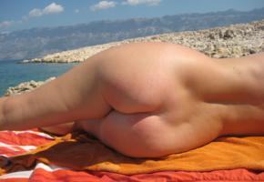ass, outdoor, butt, beach, amateur