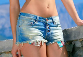 violla a, sunny, metart, jeans shorts