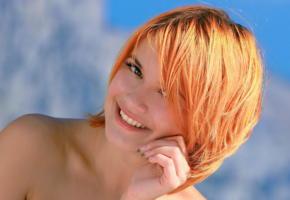 violla a, sunny, metart, shiny, pretty, smile, redhead