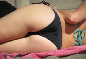 ass, bikini, beach, butt, panties