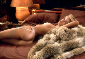 marianne gravatte, playmate, plyboy, stockings, suspenders, bad quality