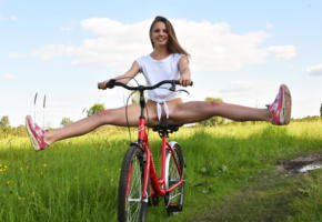 cheyanna, met-art, cute, outdoor, on the bike, spreading legs, teen