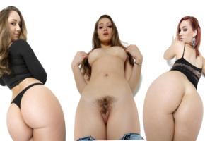 remy lacroix, dani daniels, siri, ass, pussy, pornstars, minimalist, collage, haired pussy, big ass
