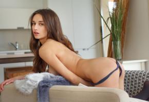 ass, tits, gloria, thong, panties, brunette, hi-q, sexy, ass wallpaper