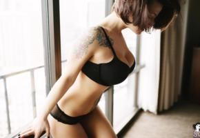 suicide girls, tattoo, lingerie, bra, brandie, sleepless in seattle