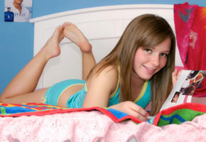 cookie, cute, teen, smile, young, bed
