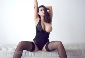joey fisher, brunette, hot, big boobs, stockings, tits out, big tits, tits, boobs, busty, curvy, english, adult model, natural big tits, super boobs, knockers, juggs, funbags, gazongas, hi-q