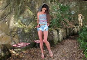 lorena garcia, inthecrack, beautiful, brunette, jeans shorts