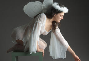 cosplay, hot, fairy, shear, dress, see through