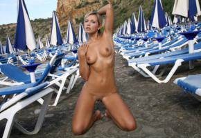 jenni a, jenni checz, beach, naked, tits, shaved pussy, landing strip, tanned, pierced navel, hi-q, jenni gregg