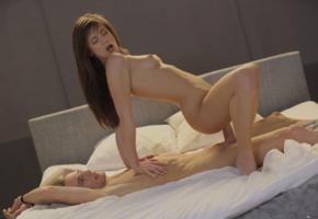 little caprice, caprice, brunette, reverse cowgirl, bed, small tits, tits, sex, fuck a bitch