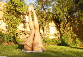 bianca, fingering, ass, outdoor, legs up, pussy, labia