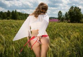 monica, famegirls, cornfield, gorgeous, ass, panties