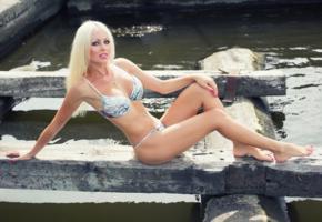 beauty, blonde, sexy legs, vikki, low quality, bikini
