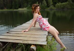 foxy, famegirls, lake, beautiful, dress