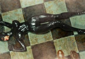 3d, fetish babe, big tits, masked, sexy babe, laying, tight clothes, shiny, black, pvc, catsuit, overknee boots, latex, gloves, super boobs, shiny clothes, jaredd999 picture, widescreen cut, babes in boots, 3d latex, monster eater