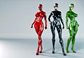 3 babes, 3d, fetish babe, big tits, sexy babe, tight clothes, pvc, catsuit, overknee boots, latex, mask, gloves, fetish, masked, super boobs, babes, widescreen cut, jaredd999 picture, babes in boots, 3d latex