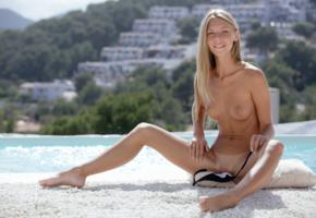 anjelica, abby, chelsea, krystal boyd, pool, naked, tits, shaved pussy, spread legs, tan lines, smile, hi-q