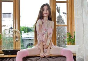 emily bloom, sex-art, long hair, window, stockings
