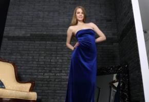 caroline, mpl, blue, cute, long hair, blue dress, non nude, carolina sampaio, carolina