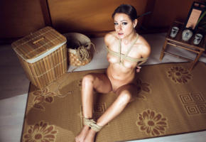 melisa mendiny, melisa a, lexa, brunette, naked, bondage, rope, tied up, tits, nipples, shaved pussy, hi-q