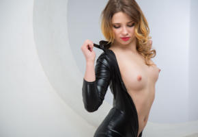foxy, boobs, tits, hot, beautiful, fetish, famegirls, young, brunette, sexy babe, long hair, undressing, shiny, black, lycra, catsuit, sexy, hi-q