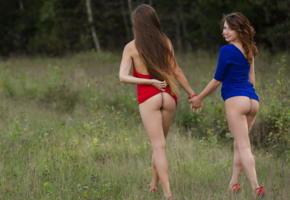 nora, foxy, famegirls, outdoors, ass, brunette, legs