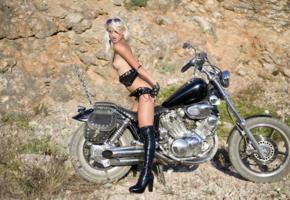 adelia b, sonia, vesna, nika a, blonde, motorcycles, bikini, topless, small tits, puffy nipples, boots, sunglasses, hi-q, sexy dressed