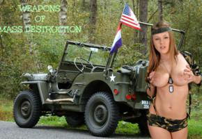viola bailey, viola, viola paige, vanea h, auburn, topless, big tits, nipples, army jeep, dog tags, weapons of mass destruction, hi-q, perfect tits, jeep, flag, funny-, large areola, army, american flag, jeep willys