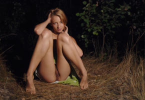 forest, woods, nude, pussy, ground, luka, luka a, helene f, haired pussy, tits, labia, legs