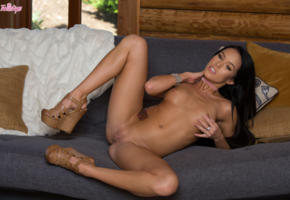 megan rain, petite, natural tits, tits, brunette, legs, legs spreading, spreading, pussy, shaved pussy, tanned, meagan, megan rains, megan reins