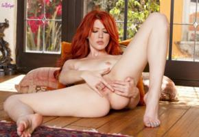 elle alexandra, red hair, sexy girl, nude, naked, tits, shaved pussy, spread legs, sexy legs, masturbating, fingering, redhead, elle alexandria, elle e, paradise pleasure