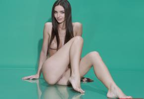 miranda kerr, brunette, sitting, nude, celebrity fake, fake, legs, tits
